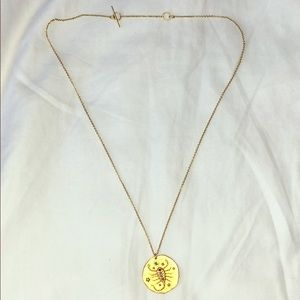 Maje gold Scorpio necklace with adjustable length